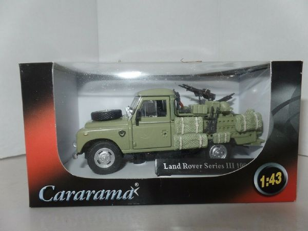 Cararama 251XND-002 1/43 Scale Land Rover S3 109 Military Army Guns